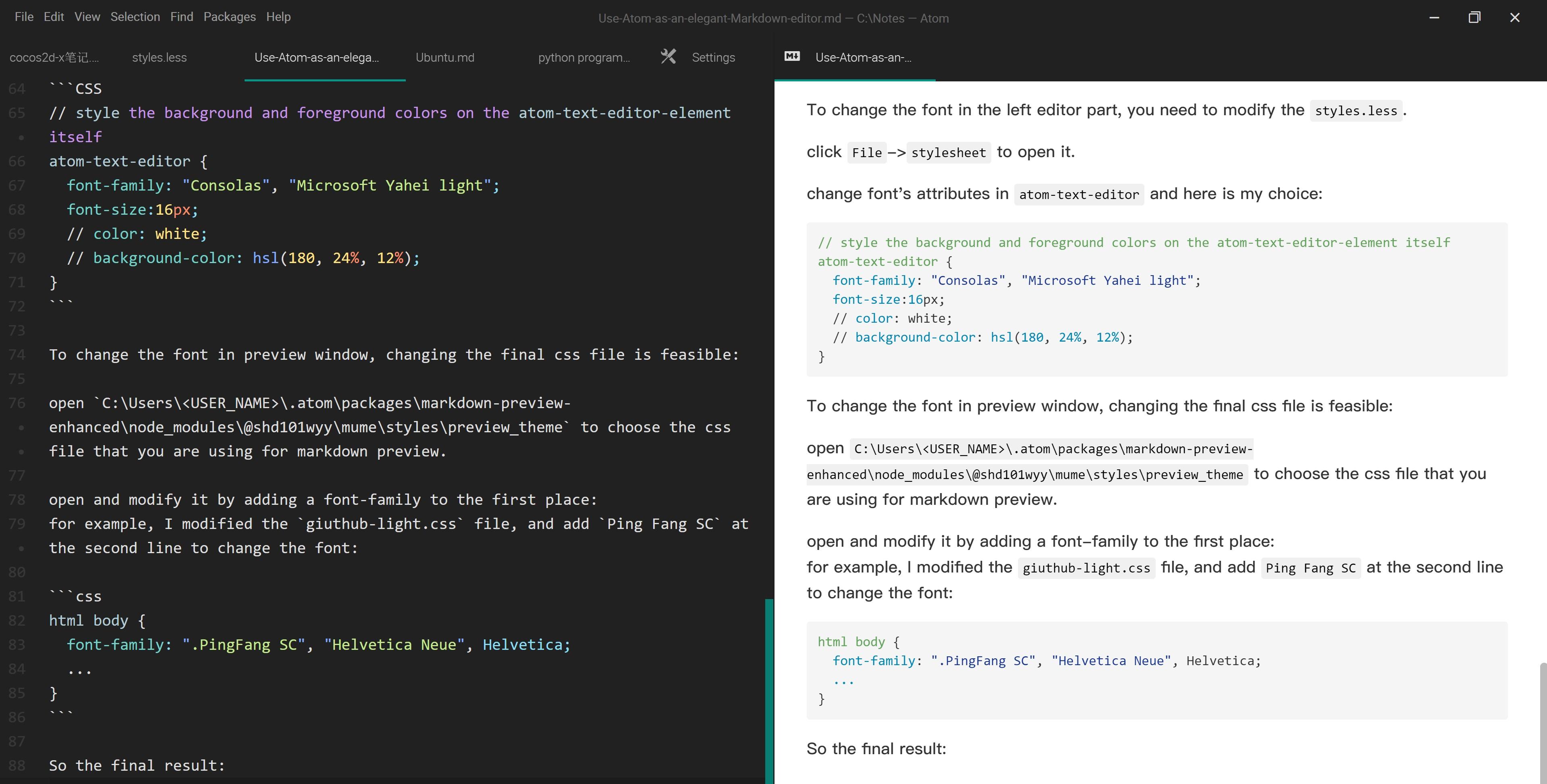 将Atom打造成完美的Markdown编辑器