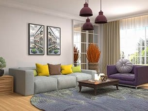 How does olive green colour look on the walls of your living room?
