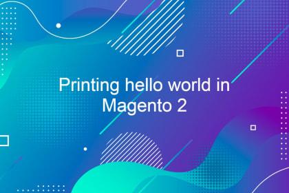 Printing hello world