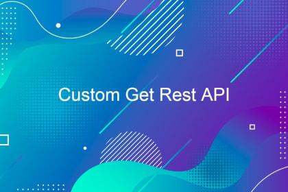 Custom Get Rest API