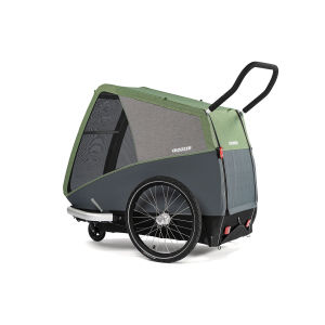 Cts293 dog xxl stroller rear side view