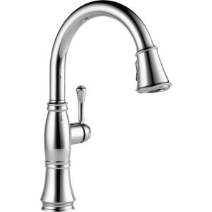Chrome delta pull down faucets 9197 dst 64 1000