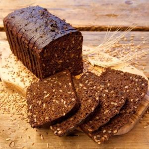 Black bread with seeds 650g sliced square 1582773945