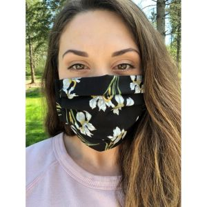 Face mask cover black iris 1589239304