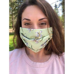 Face mask cover green iris 1589239891