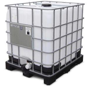Original ibc 1000 liter mit un zulassung auf kunststoffpalette mit kugelhahn und entgasungsventil im deckel 206d 1592339985