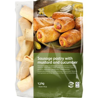 9549 xl sausage pastry with mustard and cucumber 1 3kg... 1605701782