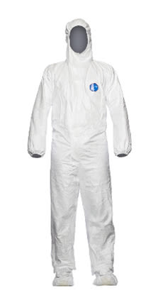 Tyvek coverall integrated feet
