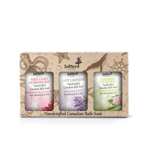 Saltwest box gift set   calming bath