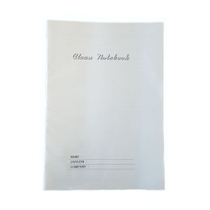 Stapled cleanroom notebook a4