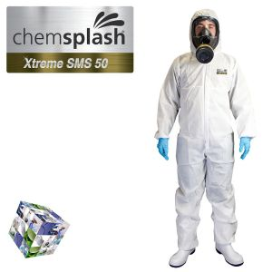 2544 chemsplash xtreme type 5 6 hooded coverall logo  2