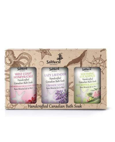 Saltwest box gift set   calming bath