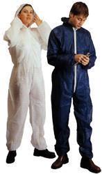 Polypropylene suit with hood
