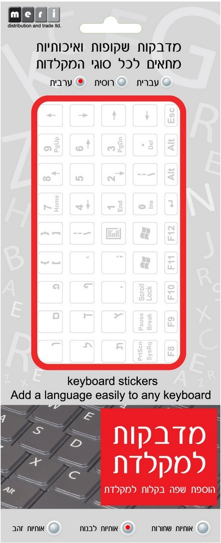 14X14 Dutch Keyboard Labels ON Transparent Background with Orange Lettering