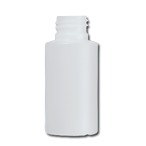 HDPE Industrial natural round bottle 100ml 28/410 including