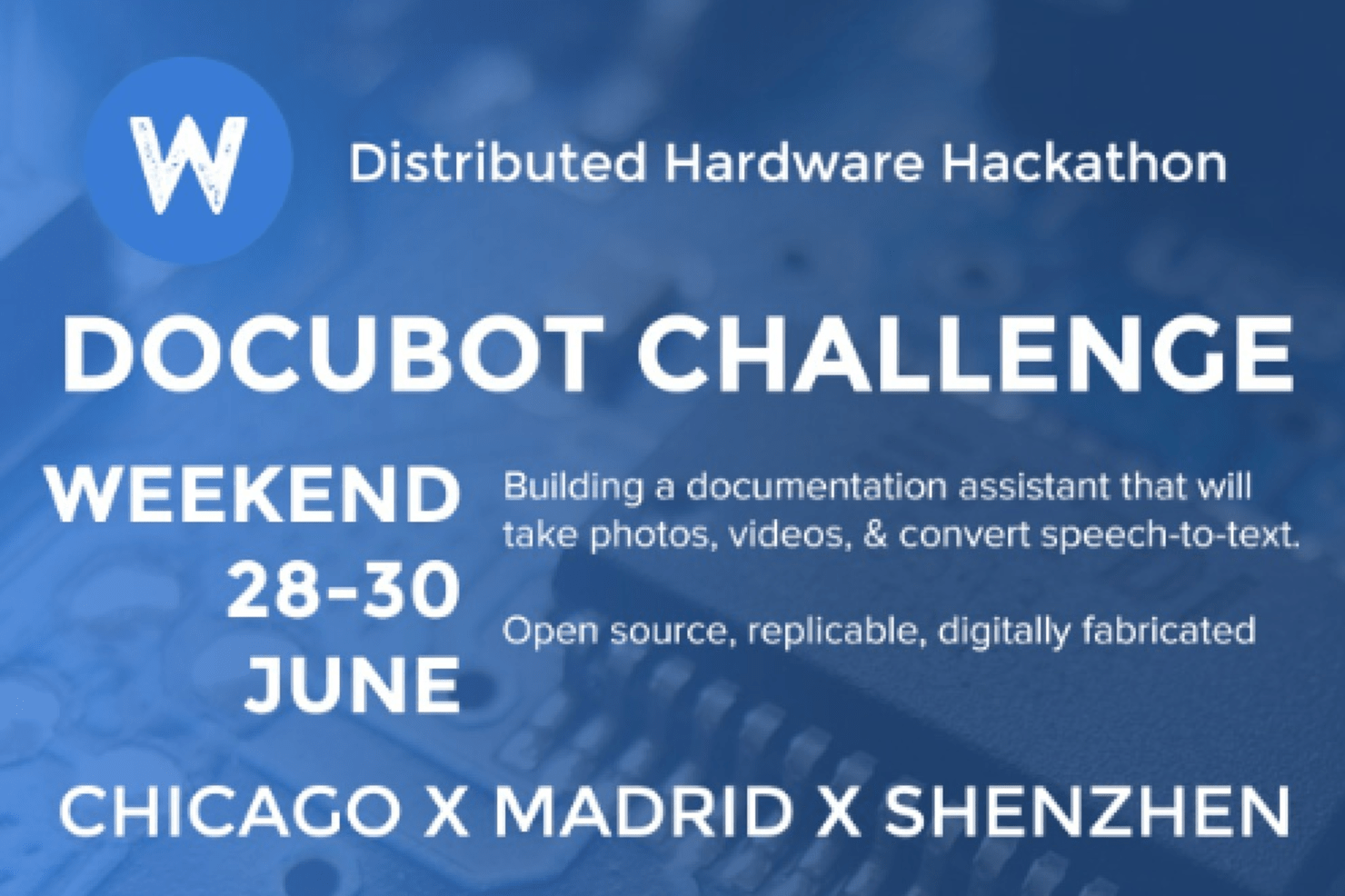 The Docubot Challenge by +distributed-hardware-hackathon | Wikifactory