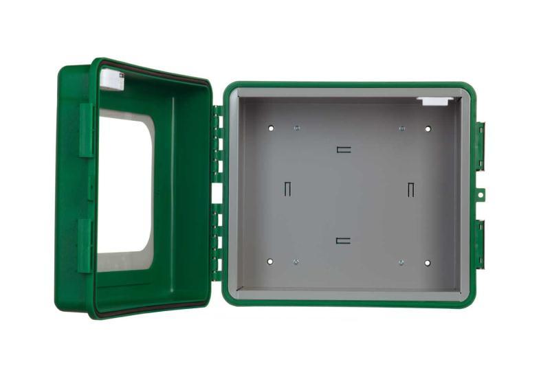 Outdoor cabinet open web