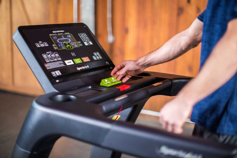 SportsArt treadmill display
