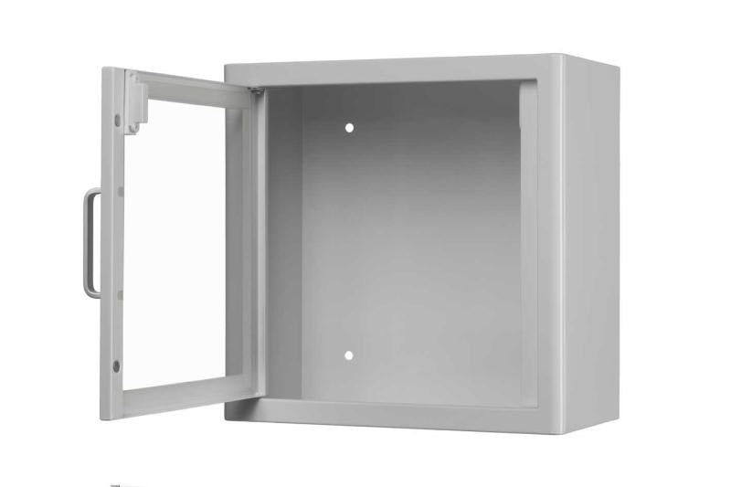 White metal cabinet open web