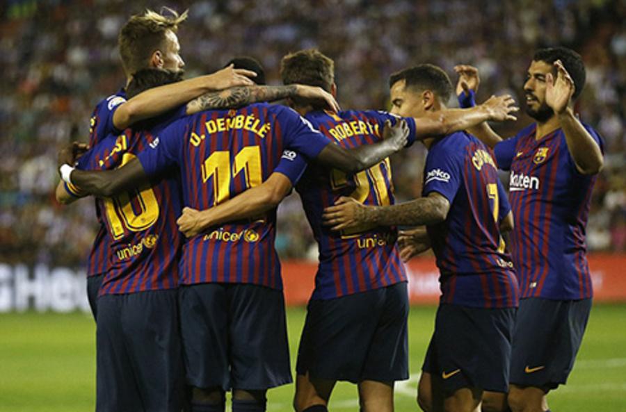 Dembele mang lại 3 điểm nhọc nhằn cho Barca