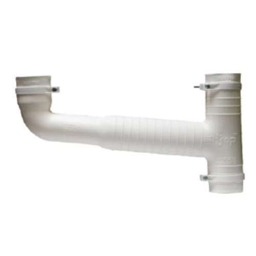 ETC03 - White Double Sink Combo 38mm Waste x 50mm Pipe