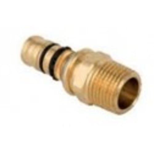 Geberit Mepla Adpt w/Male Thread Gunmetal D16mm R3/4