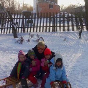 Predškolci u snijegu