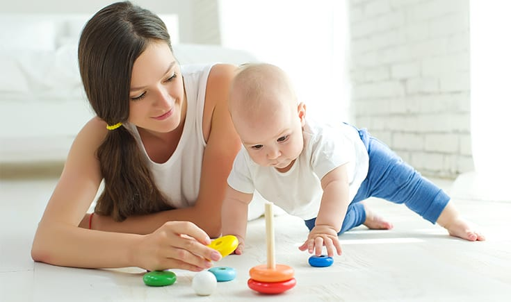 How playing with your baby improves your day
