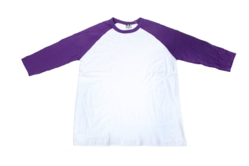 חולצות אמריקאיות   חולצה אמריקאית   הדפסה על חולצות   חולצה אמריקאית סגול  לבן