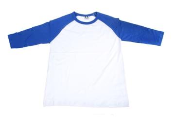 חולצות אמריקאיות   חולצה אמריקאית   הדפסה על חולצות   חולצה אמריקאית כחול לבן רויאל