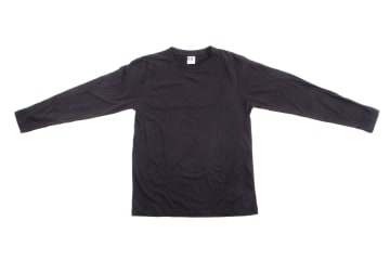 חולצה שרוול ארוך   חולצת כותנה   חולצות שרוול ארוך בצבע שחור