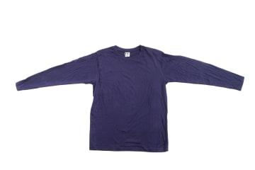 חולצה שרוול ארוך   חולצת כותנה   חולצות שרוול ארוך בצבע כחול נייבי