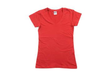 לייקרה | חולצת לייקרה | חולצת כותנה | חולצת לייקרה לנשים בצבע אדום