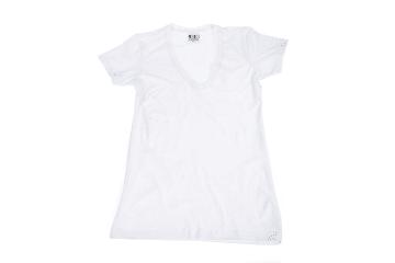 לייקרה | חולצת לייקרה | חולצת כותנה | חולצת לייקרה לנשים בצבע לבן