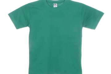 הדפסה על חולצה | חולצת כותנה | חולצות כותנה | חולצת כותנה בצבע ירוק דשא