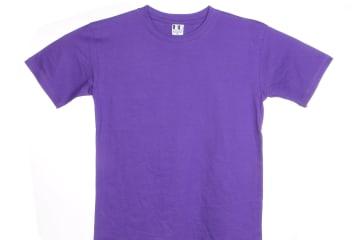 הדפסה על חולצה | חולצת כותנה | חולצות כותנה | חולצת כותנה סגולה
