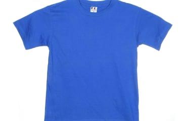 הדפסה על חולצה   חולצת כותנה   חולצות כותנה   חולצת כותנה בצבע כחול רויאל
