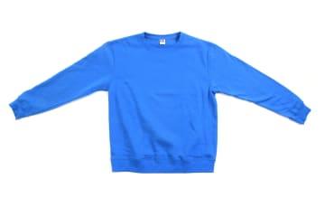 הדפסה על סווטשרט | סווטשרט | פוטר ללא כובע וכיס | סווטשרט כחול רויאל