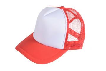 הדפסה על כובע | הדפסה על כובע רשת | כובע רשת מודפס | כובע רשת בצבע אדום