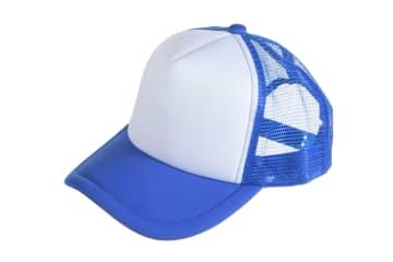 הדפסה על כובע | הדפסה על כובע רשת | כובע רשת מודפס | כובע רשת בצבע כחול רויאל