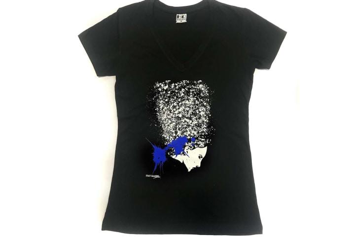 הדפסה על חולצות | הדפסת חולצות | האמן איתי מגן - דמות בפרופיל