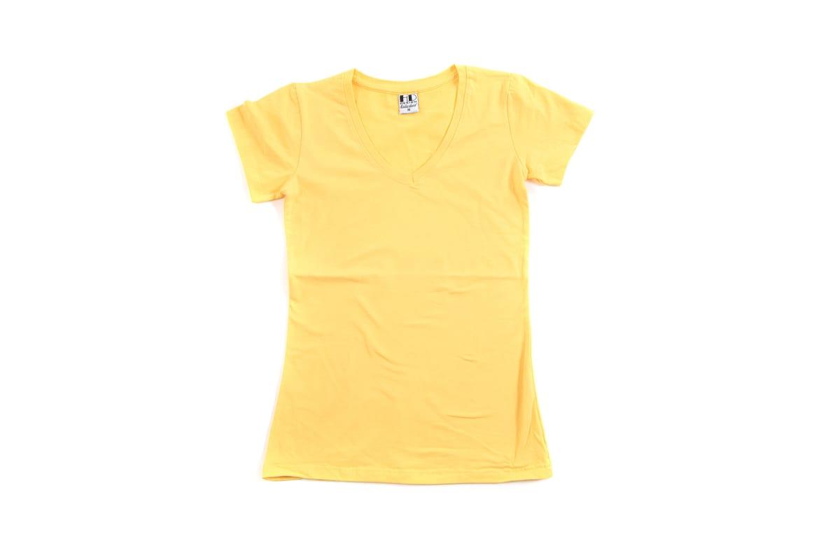 לייקרה | חולצת לייקרה | חולצת כותנה | חולצת לייקרה לנשים בצבע צהוב בננה