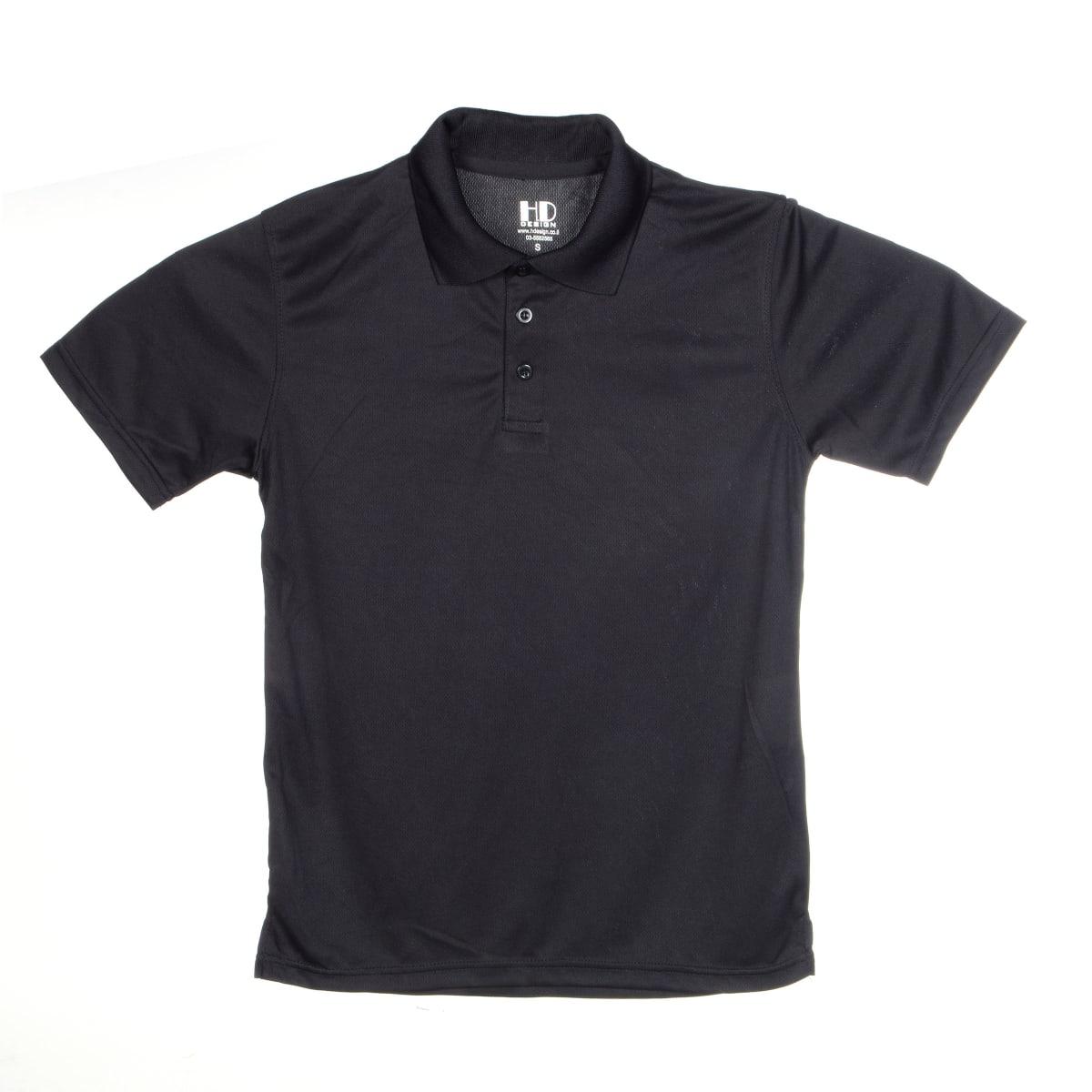 חולצת פולו   חולצות פולו דרייפיט   חולצת פולו בצבע שחור