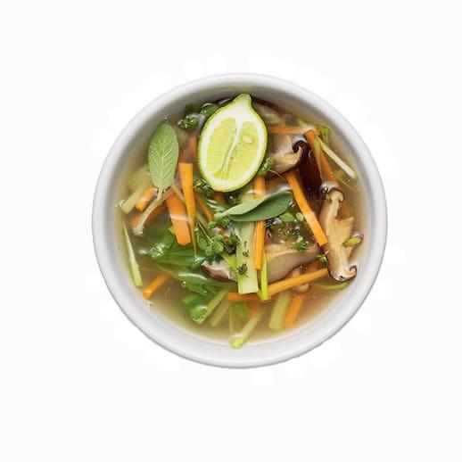 Rezept für Bouillon riche mit Gemüse und asiatischen Zutaten