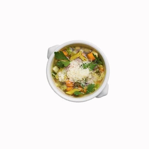 Heisse Mahlzeit: Suppen-Rezept für Tassen-Minestrone