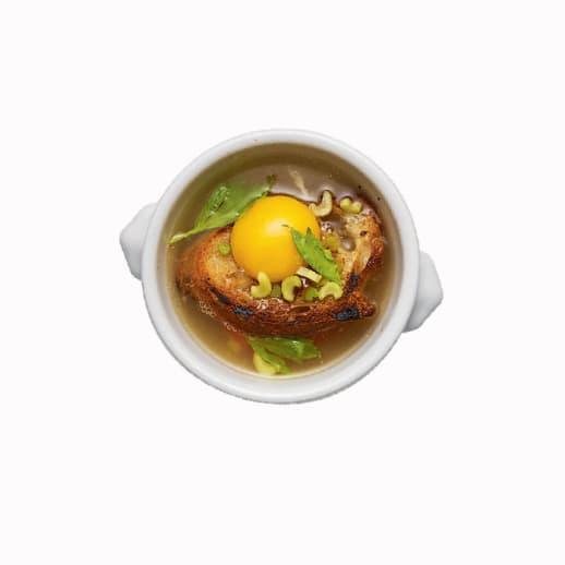 Herbstliche Suppe: Rezept für Zuppa pavese