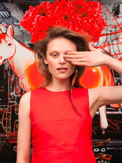 Frühlingslooks: Kunstvoll inszenierte Mode
