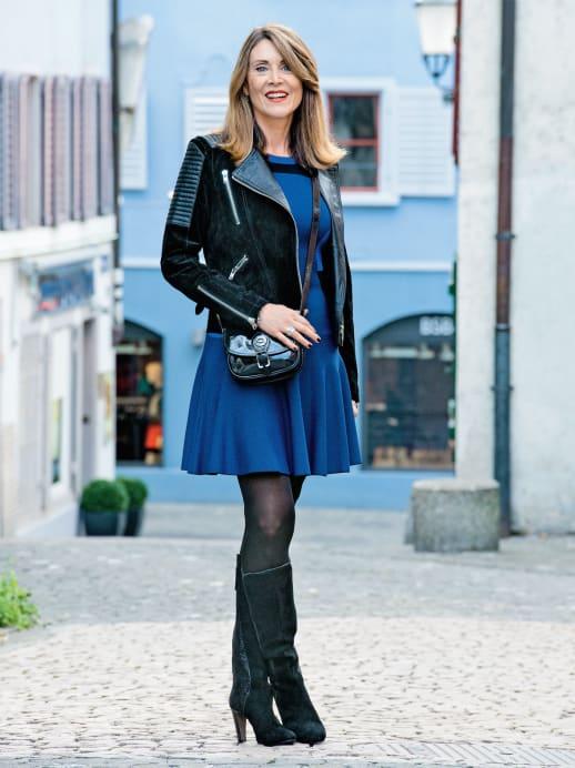 Ein neuer Look für Astrid Zubler: Königinblau