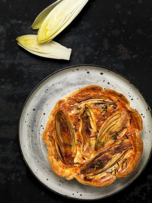 Tarte-Rezept mit Chicorée und Ziegenkäse