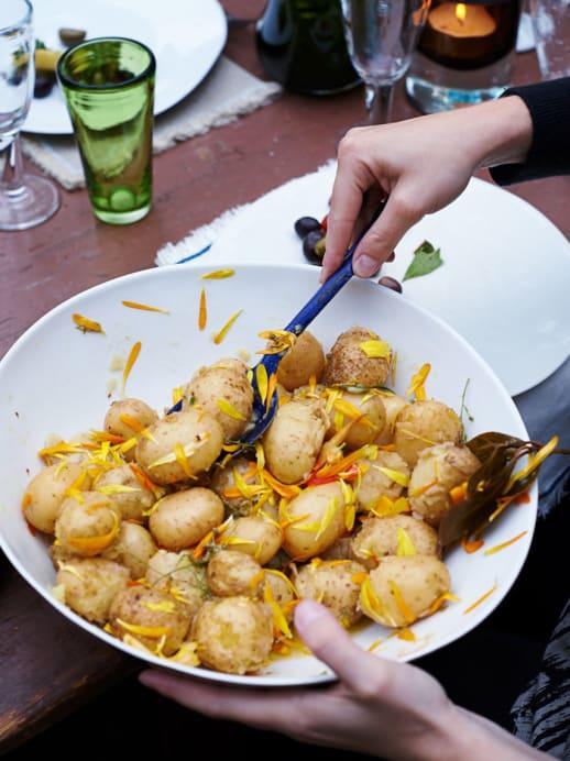 Rezept: Kartoffelsalat mit Wein